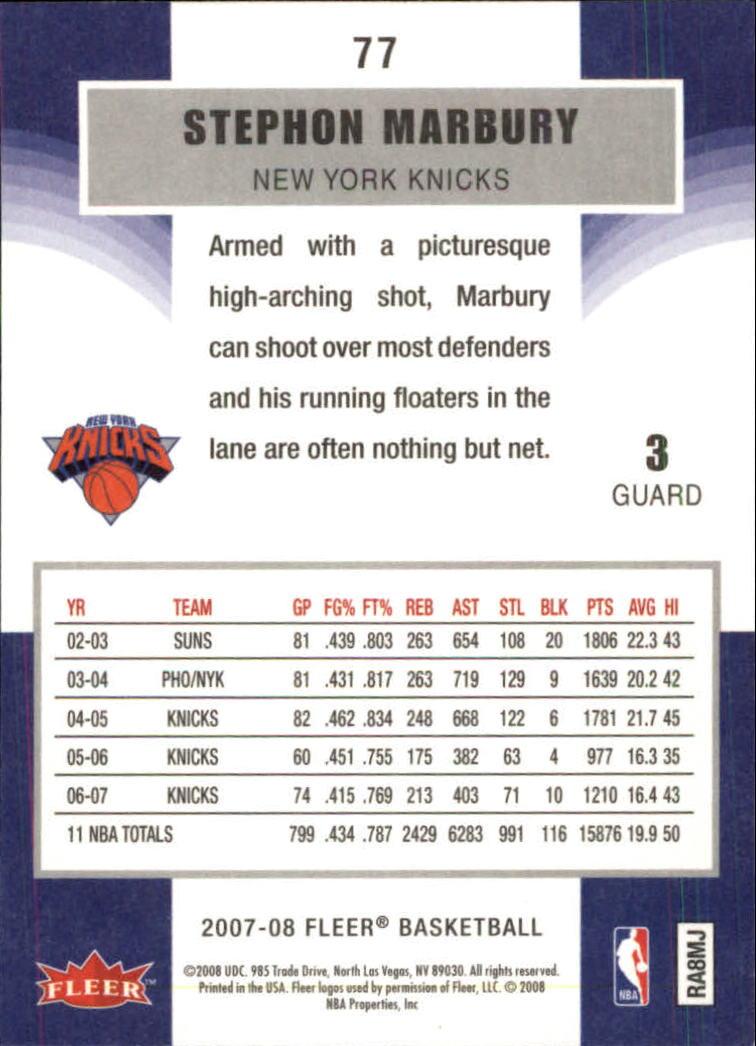 2007-08-Fleer-Basketball-Cards-Base-Set-Pick-From-List thumbnail 149