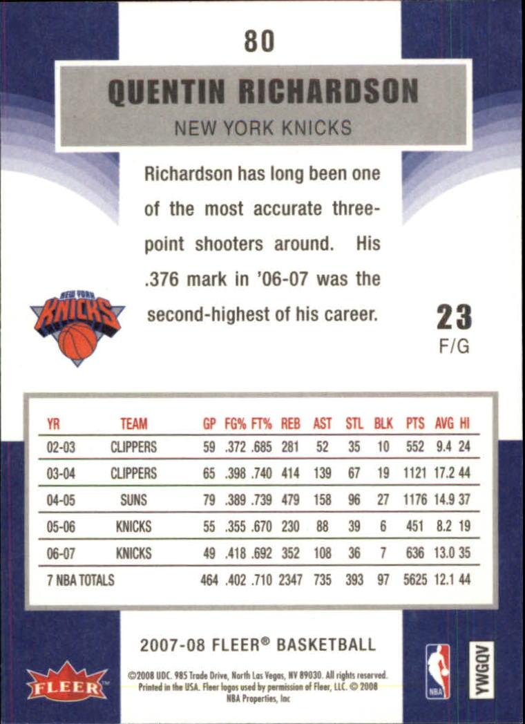 2007-08-Fleer-Basketball-Cards-Base-Set-Pick-From-List thumbnail 155