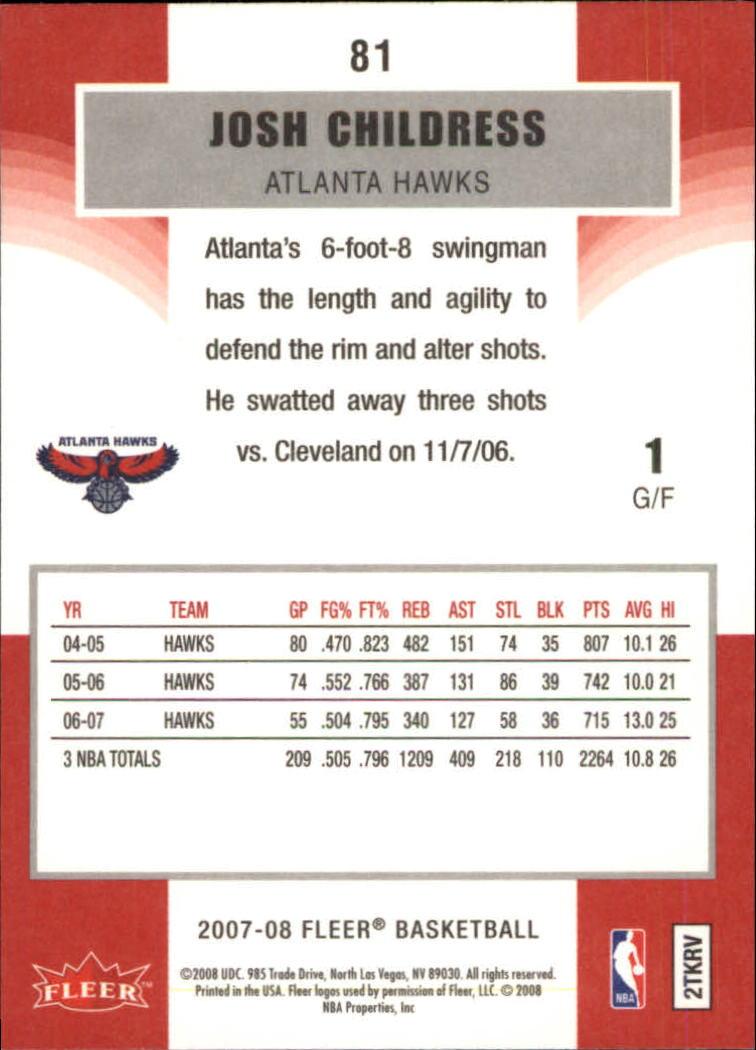 2007-08-Fleer-Basketball-Cards-Base-Set-Pick-From-List thumbnail 157