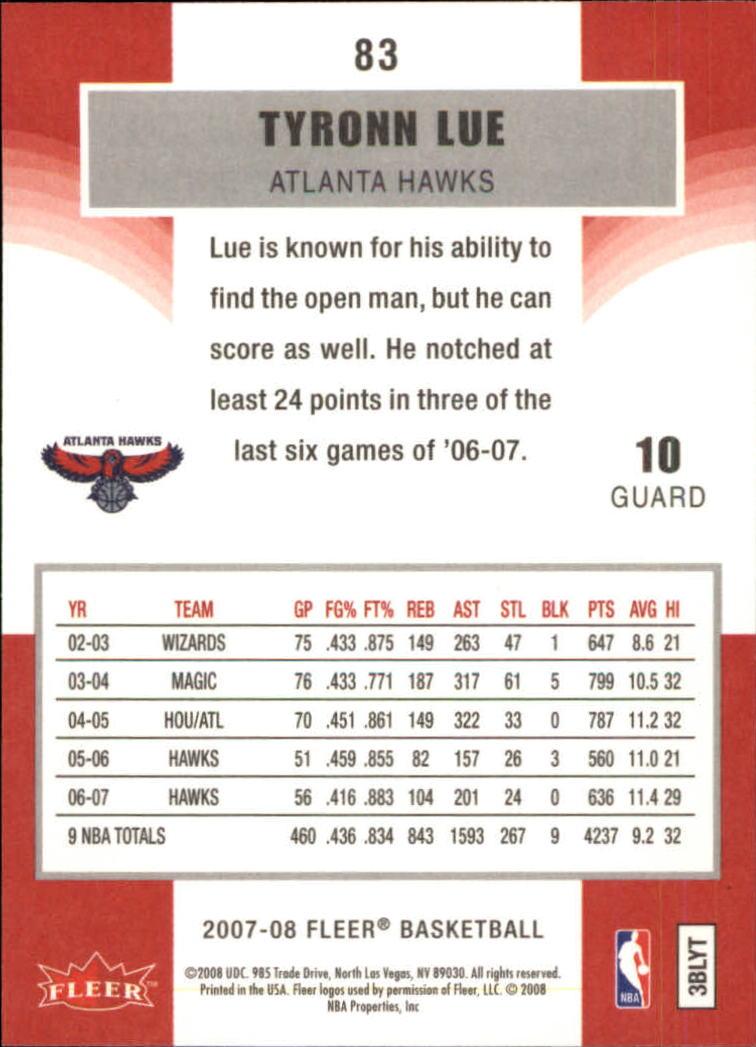 2007-08-Fleer-Basketball-Cards-Base-Set-Pick-From-List thumbnail 161