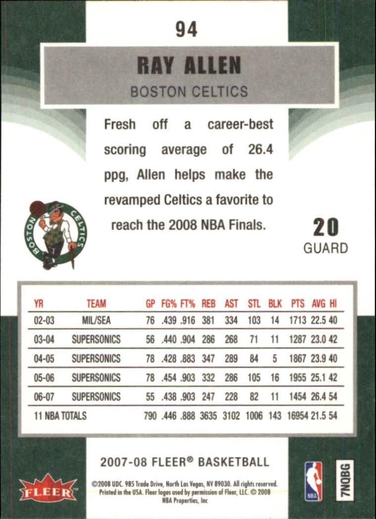 2007-08-Fleer-Basketball-Cards-Base-Set-Pick-From-List thumbnail 183