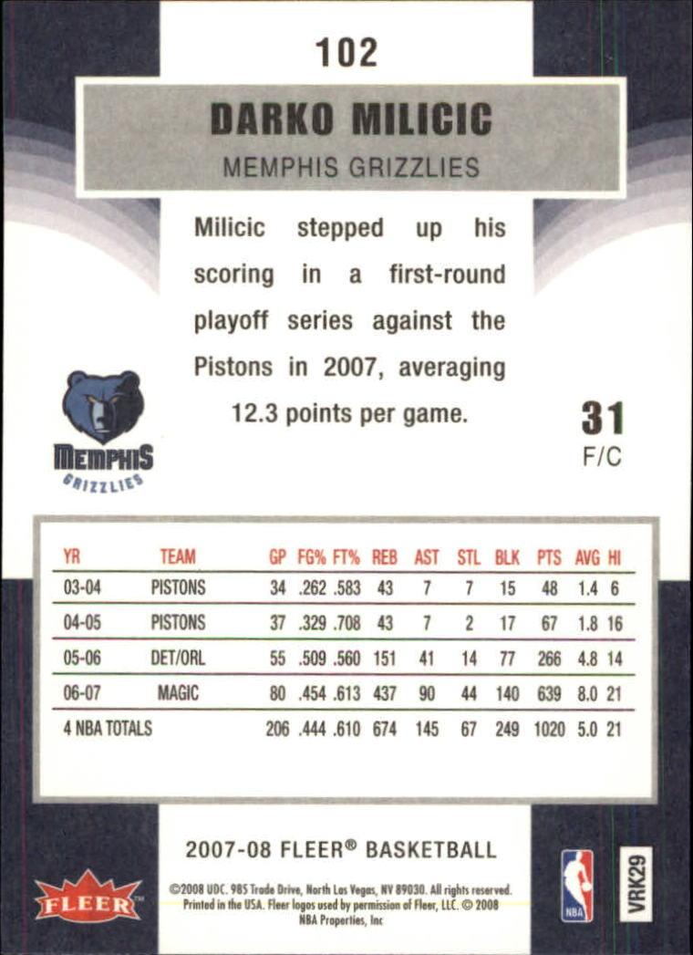 2007-08-Fleer-Basketball-Cards-Base-Set-Pick-From-List thumbnail 197