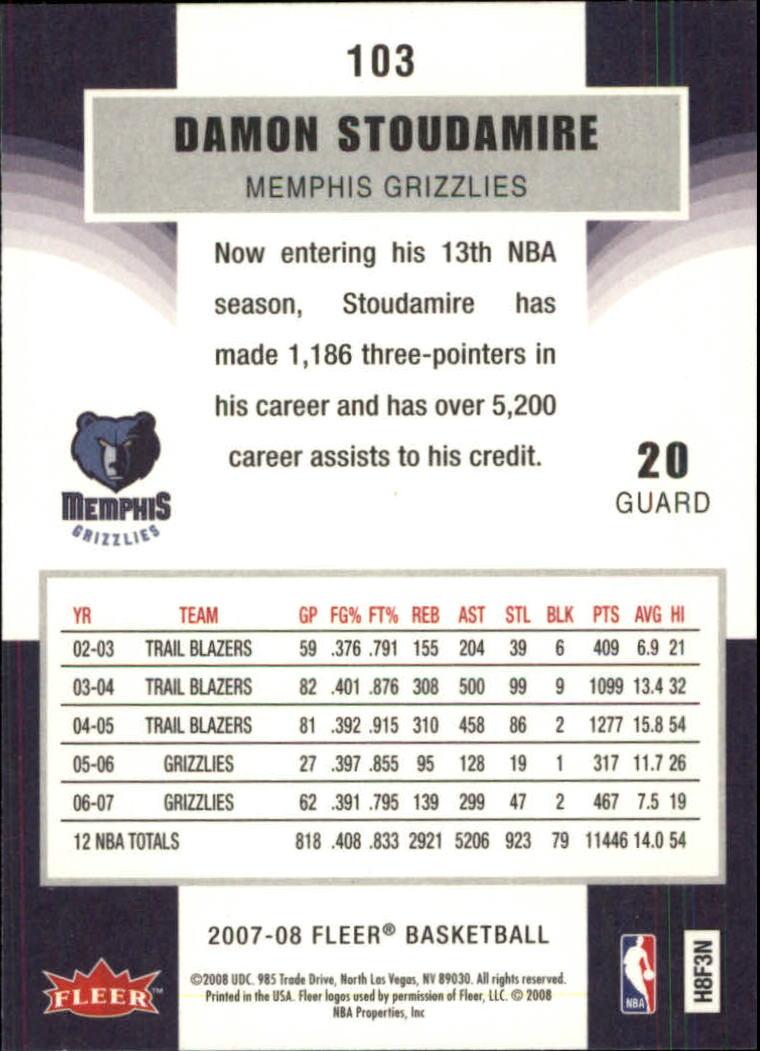 2007-08-Fleer-Basketball-Cards-Base-Set-Pick-From-List thumbnail 199