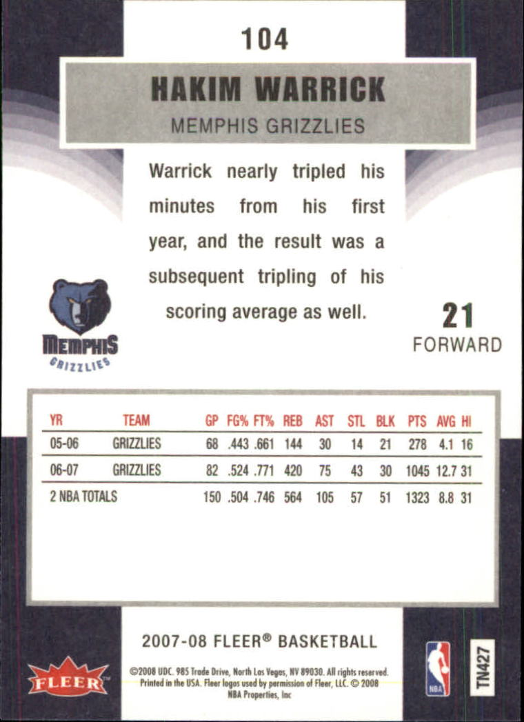 2007-08-Fleer-Basketball-Cards-Base-Set-Pick-From-List thumbnail 201