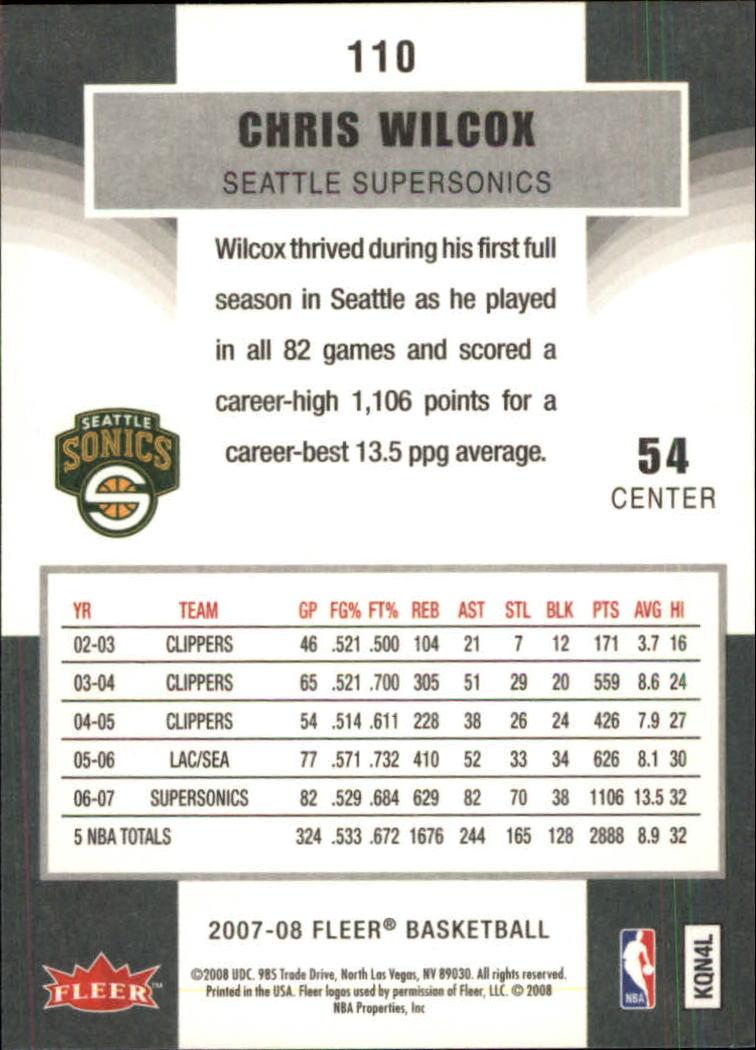 2007-08-Fleer-Basketball-Cards-Base-Set-Pick-From-List thumbnail 213