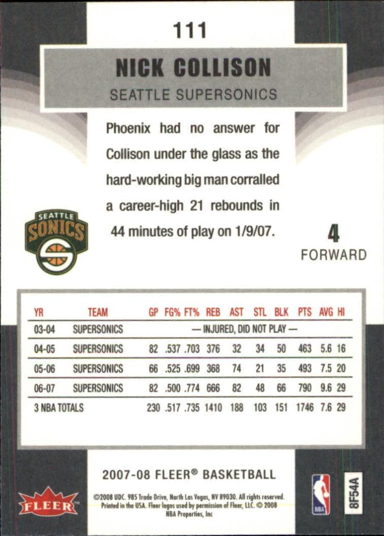 2007-08-Fleer-Basketball-Cards-Base-Set-Pick-From-List thumbnail 215