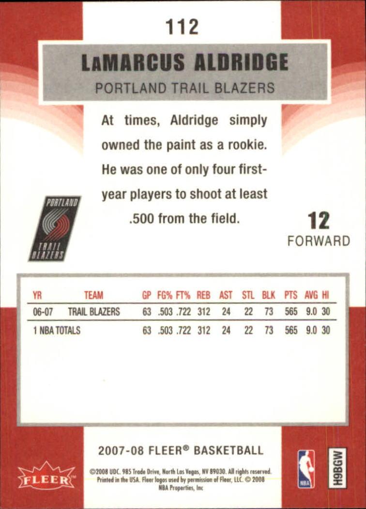 2007-08-Fleer-Basketball-Cards-Base-Set-Pick-From-List thumbnail 217