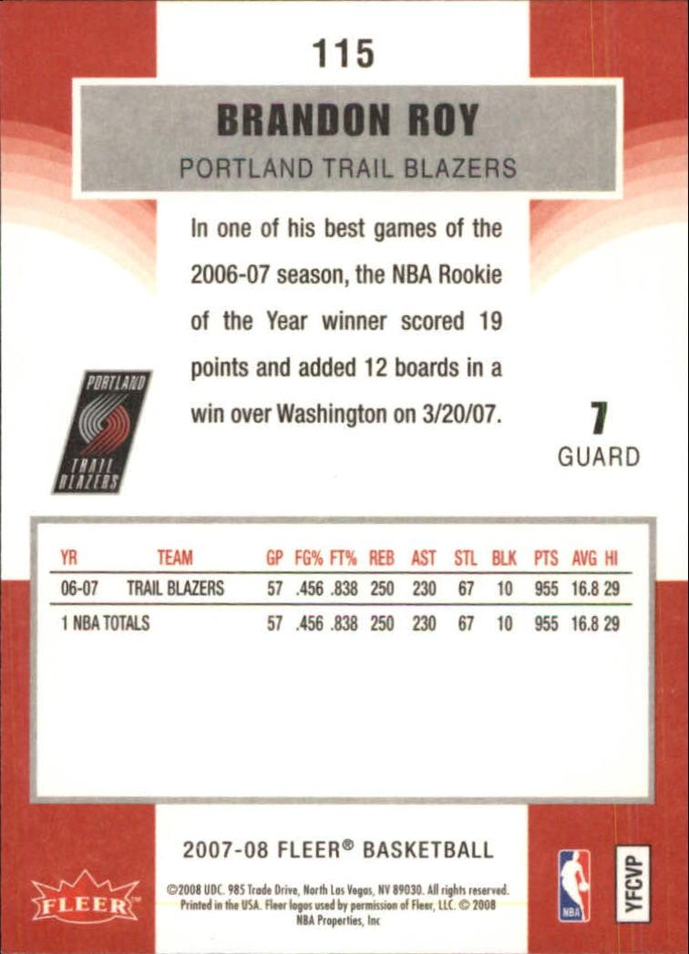 2007-08-Fleer-Basketball-Cards-Base-Set-Pick-From-List thumbnail 223