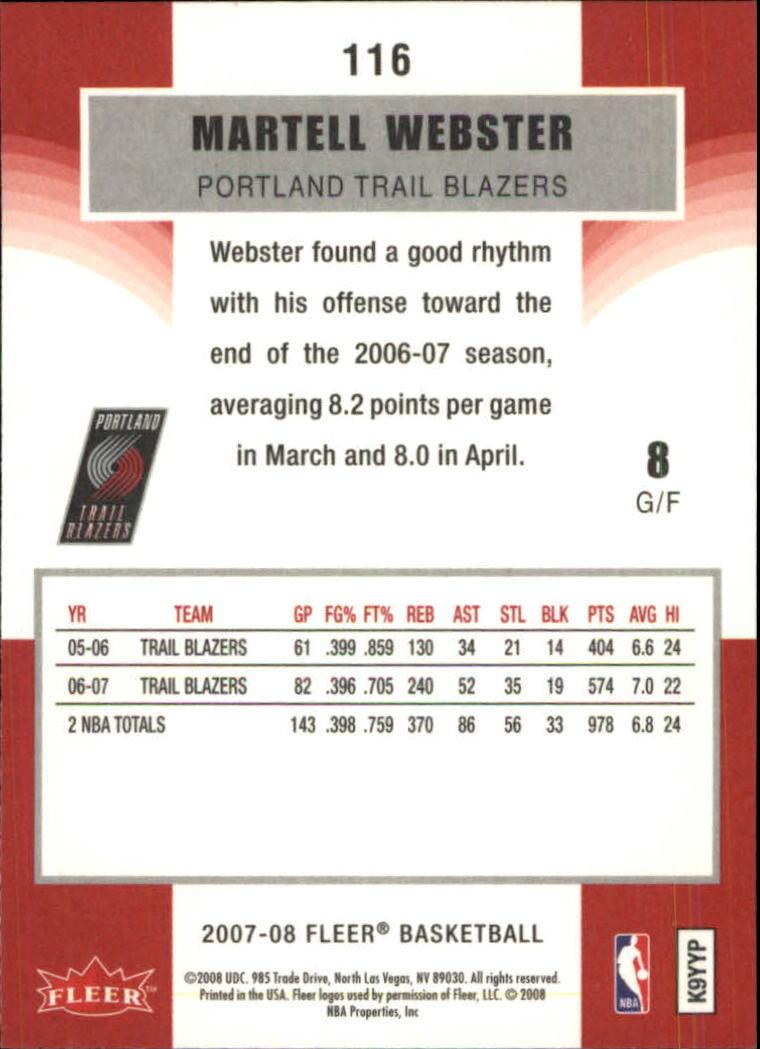 2007-08-Fleer-Basketball-Cards-Base-Set-Pick-From-List thumbnail 225