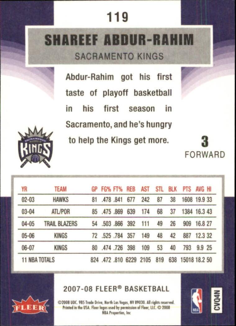 2007-08-Fleer-Basketball-Cards-Base-Set-Pick-From-List thumbnail 231