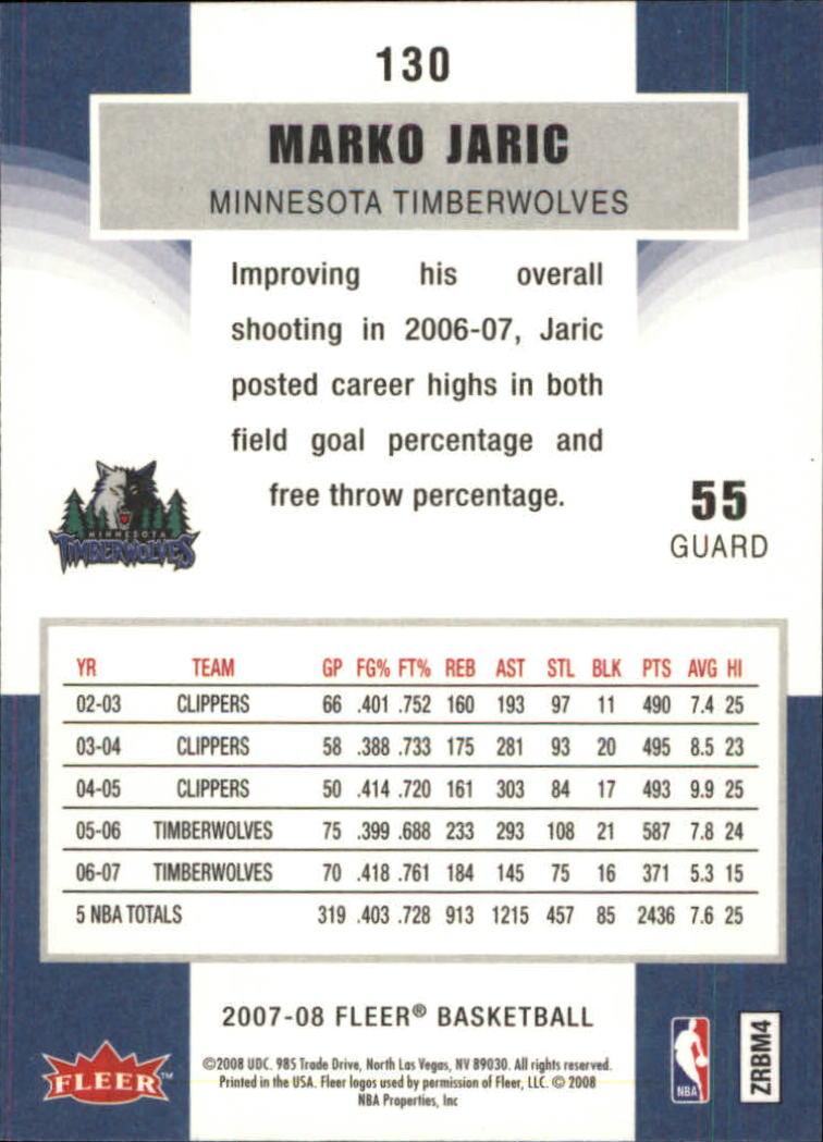 2007-08-Fleer-Basketball-Cards-Base-Set-Pick-From-List thumbnail 253