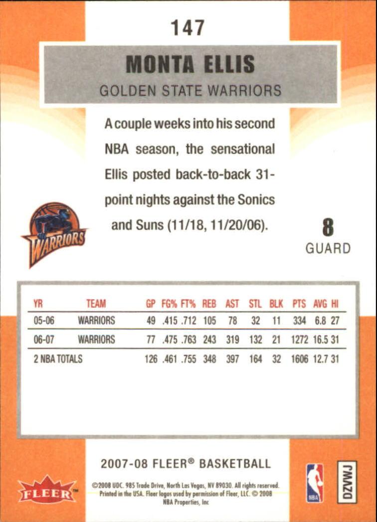 2007-08-Fleer-Basketball-Cards-Base-Set-Pick-From-List thumbnail 287