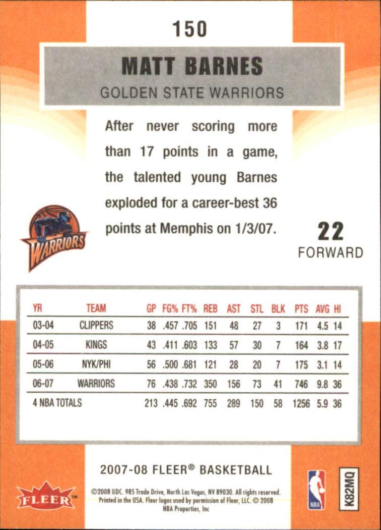 2007-08-Fleer-Basketball-Cards-Base-Set-Pick-From-List thumbnail 293