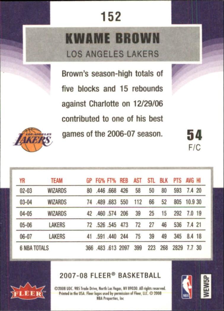 2007-08-Fleer-Basketball-Cards-Base-Set-Pick-From-List thumbnail 295
