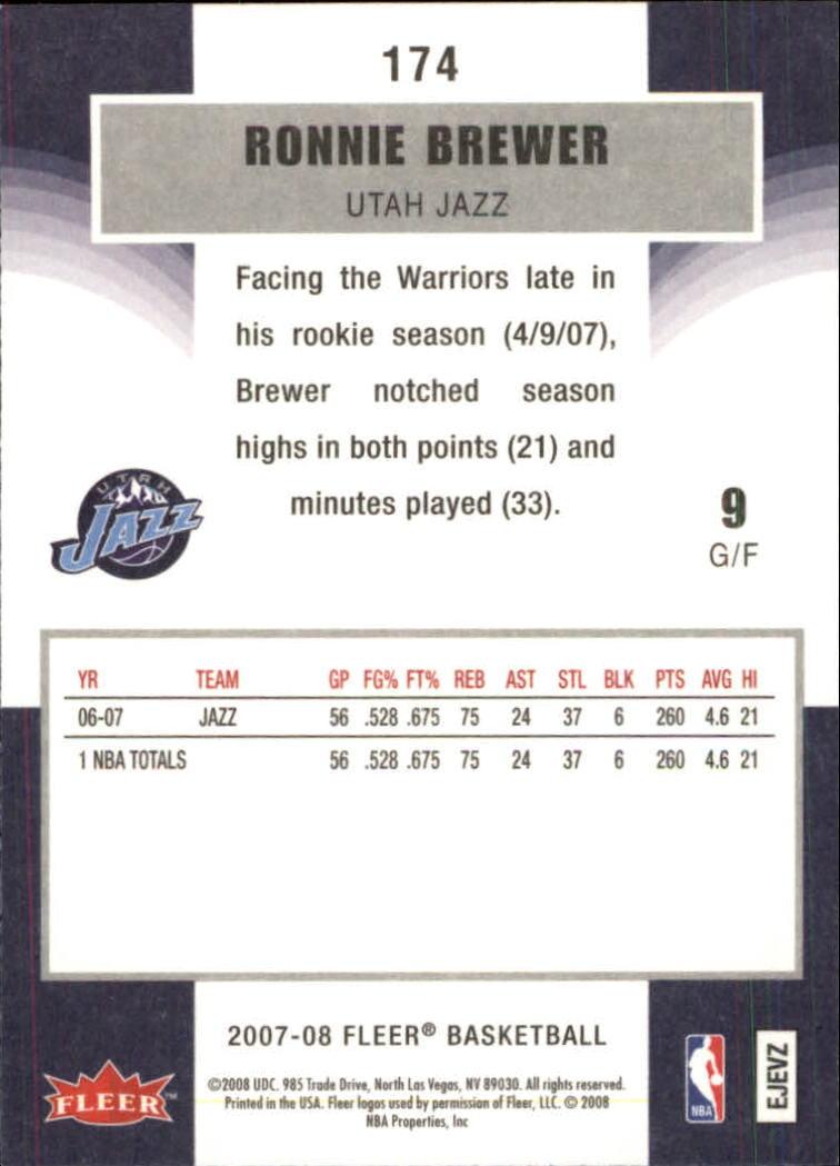 2007-08-Fleer-Basketball-Cards-Base-Set-Pick-From-List thumbnail 337