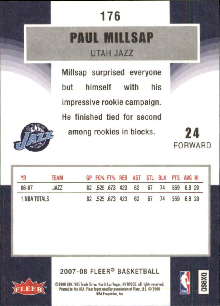 2007-08-Fleer-Basketball-Cards-Base-Set-Pick-From-List thumbnail 341