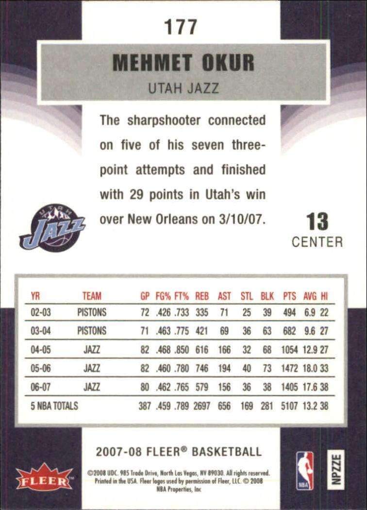2007-08-Fleer-Basketball-Cards-Base-Set-Pick-From-List thumbnail 343