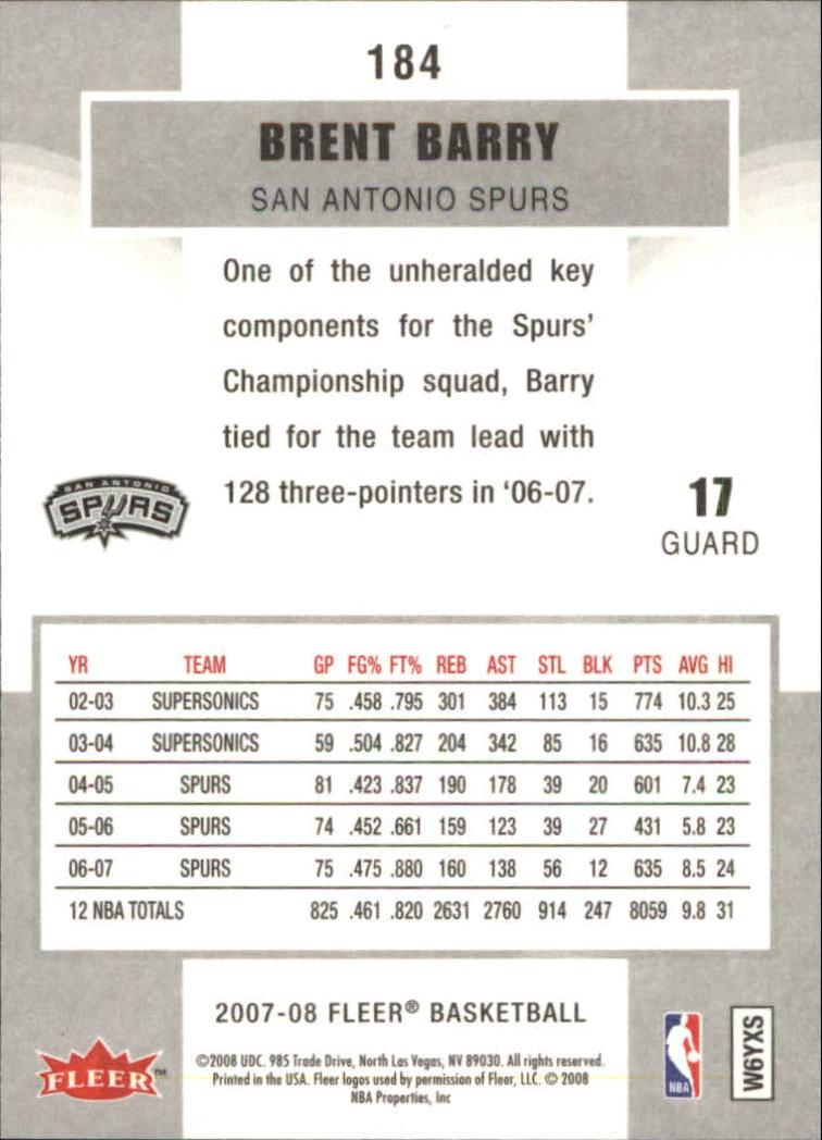 2007-08-Fleer-Basketball-Cards-Base-Set-Pick-From-List thumbnail 357