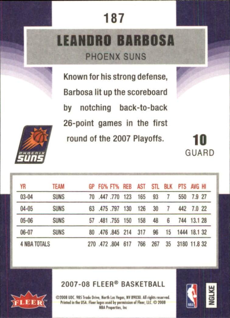 2007-08-Fleer-Basketball-Cards-Base-Set-Pick-From-List thumbnail 363