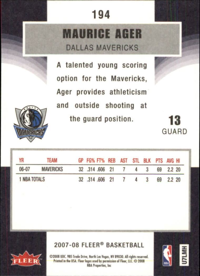 2007-08-Fleer-Basketball-Cards-Base-Set-Pick-From-List thumbnail 377