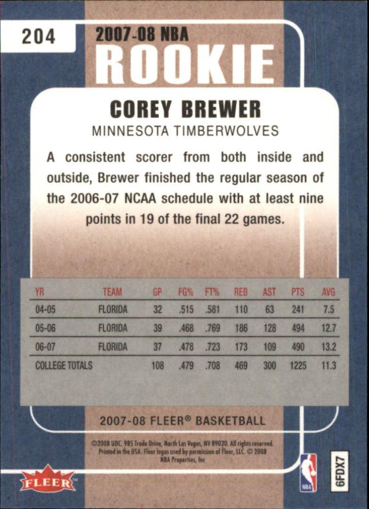 2007-08-Fleer-Basketball-Cards-Base-Set-Pick-From-List thumbnail 395