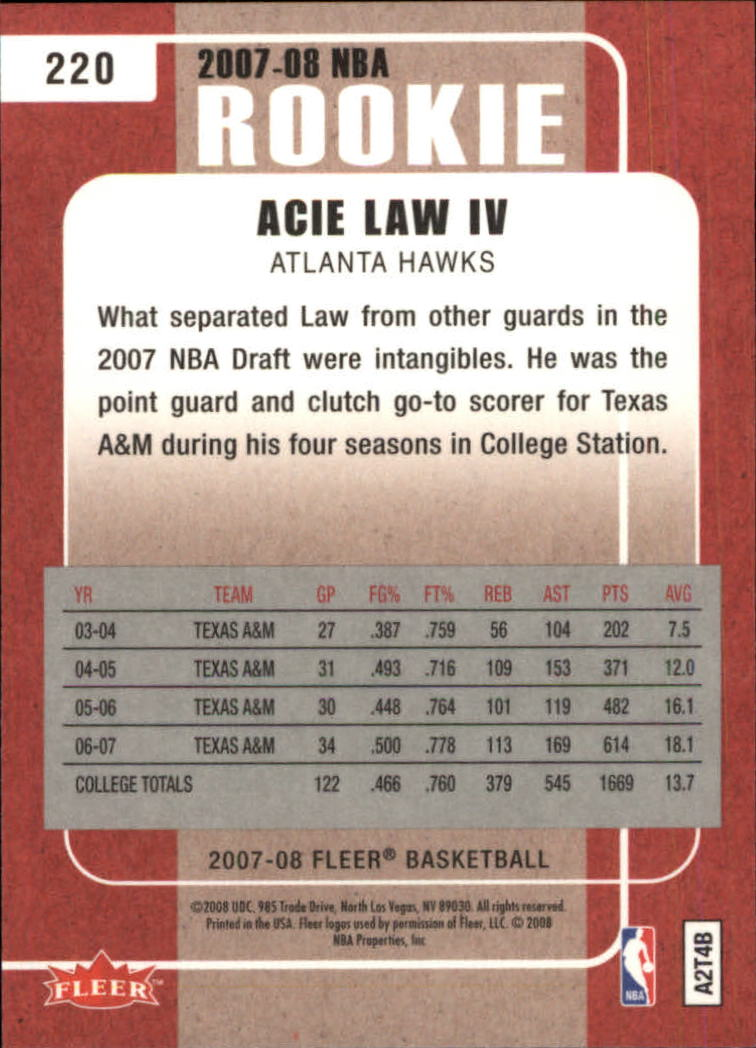2007-08-Fleer-Basketball-Cards-Base-Set-Pick-From-List thumbnail 405
