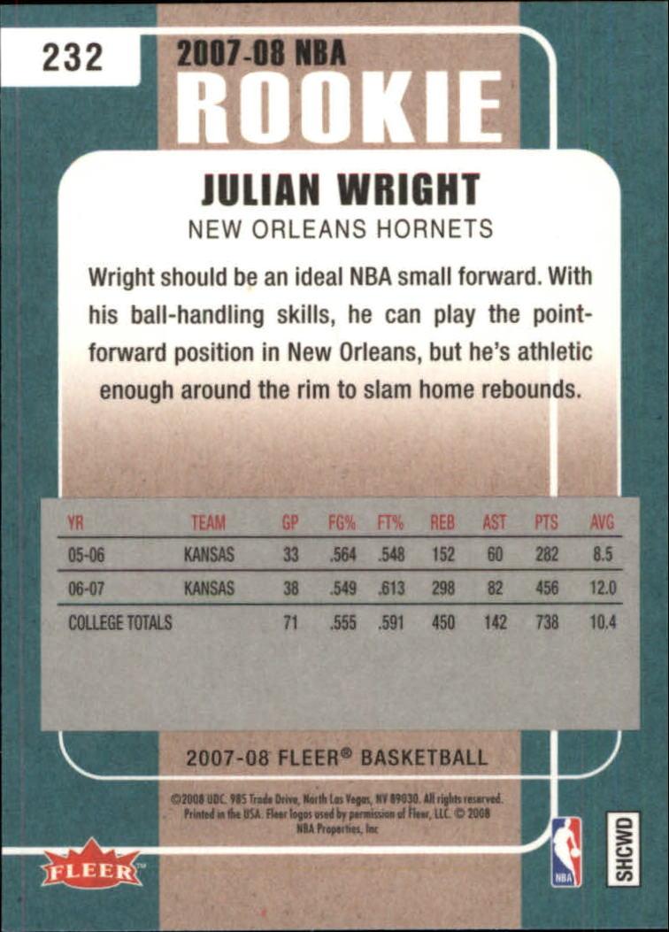 2007-08-Fleer-Basketball-Cards-Base-Set-Pick-From-List thumbnail 417