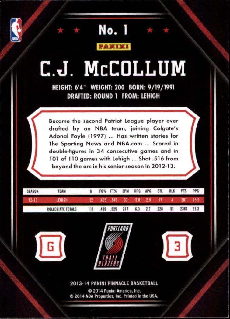 2013-14-Pinnacle-Bk-Card-s-1-150-Rookies-A2853-You-Pick-10-FREE-SHIP thumbnail 3