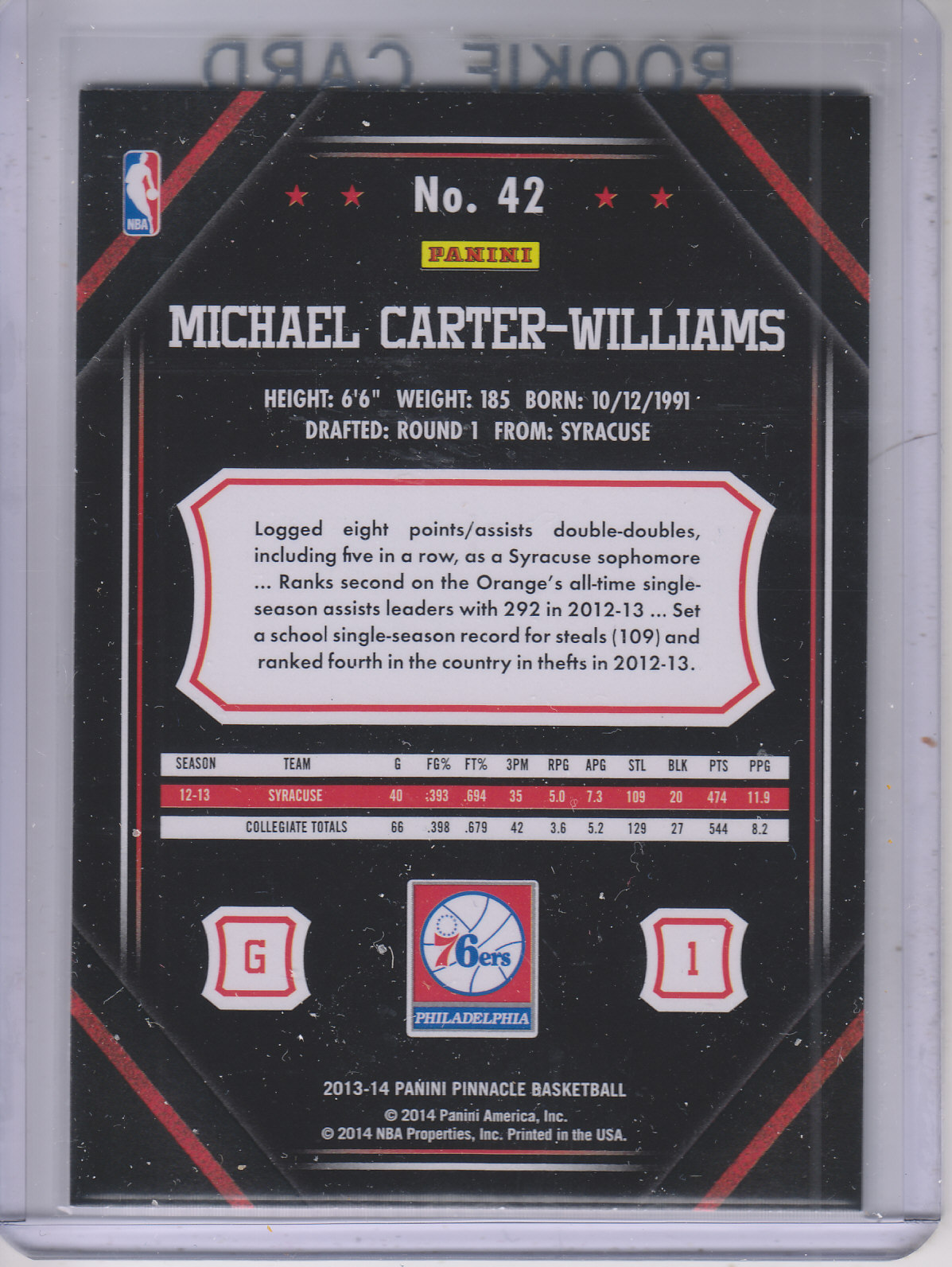 2013-14-Pinnacle-Bk-Card-s-1-150-Rookies-A2853-You-Pick-10-FREE-SHIP thumbnail 77