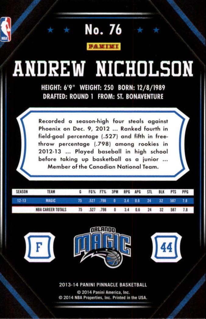 2013-14-Pinnacle-Bk-Card-s-1-150-Rookies-A2853-You-Pick-10-FREE-SHIP thumbnail 143