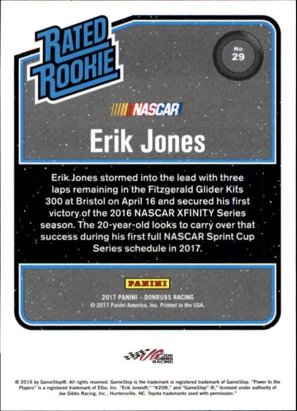 2017-Donruss-Racing-s-1-189-RCs-Inserts-A2404-You-Pick-10-FREE-SHIP thumbnail 9