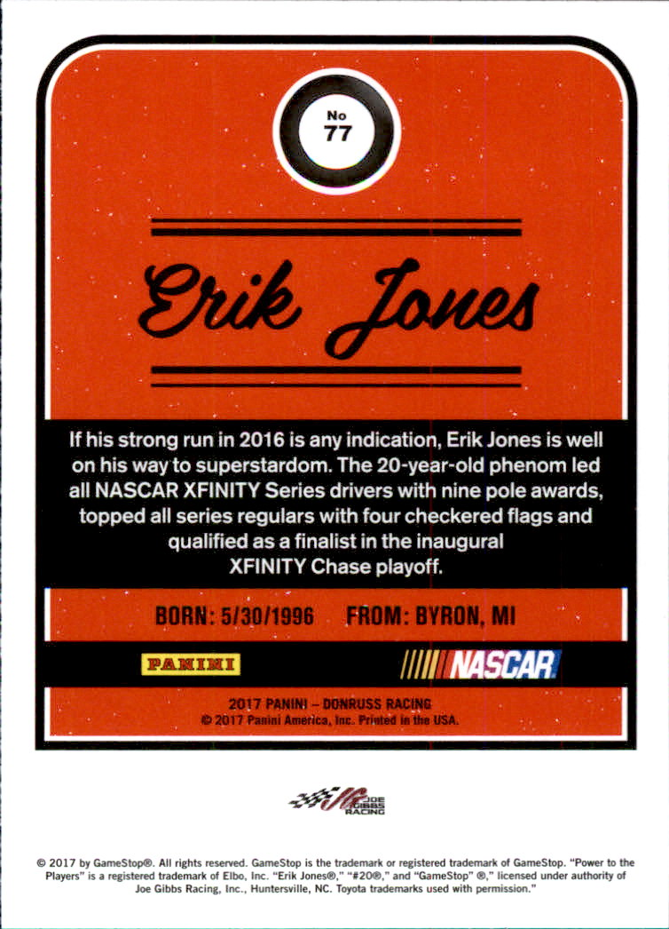 2017-Donruss-Racing-s-1-189-RCs-Inserts-A2404-You-Pick-10-FREE-SHIP thumbnail 95