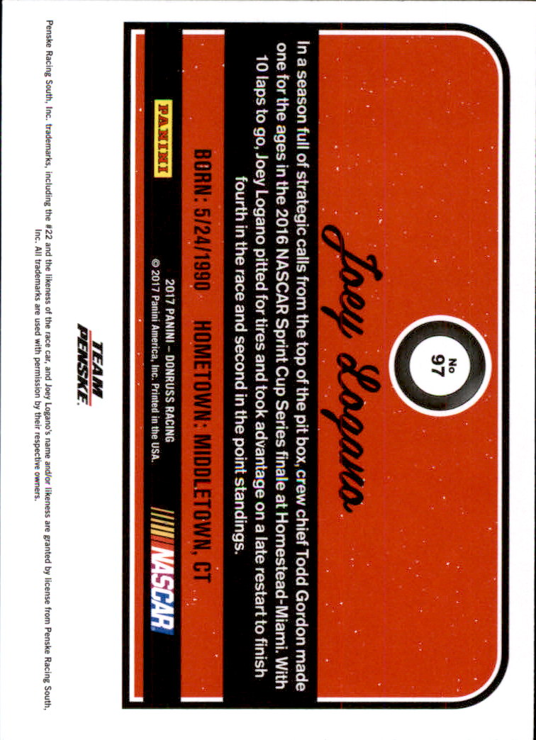 2017-Donruss-Racing-s-1-189-RCs-Inserts-A2404-You-Pick-10-FREE-SHIP thumbnail 135
