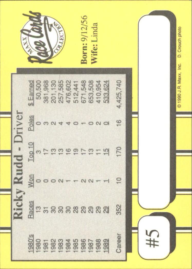 1990-Maxx-Auto-Racing-Cards-1-200-Rookies-A2695-You-Pick-10-FREE-SHIP thumbnail 11
