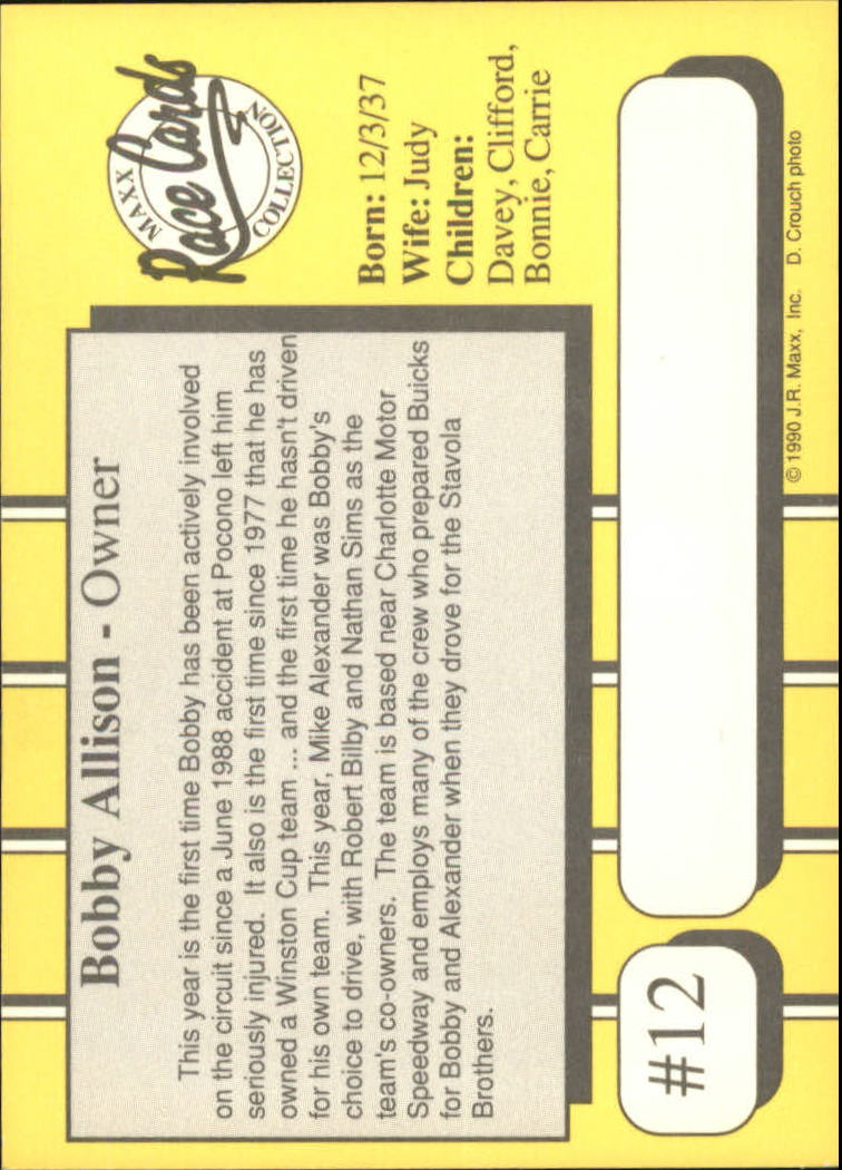 1990-Maxx-Auto-Racing-Cards-1-200-Rookies-A2695-You-Pick-10-FREE-SHIP thumbnail 25