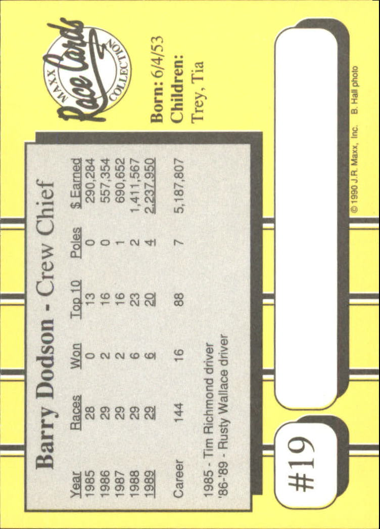 1990-Maxx-Auto-Racing-Cards-1-200-Rookies-A2695-You-Pick-10-FREE-SHIP thumbnail 39