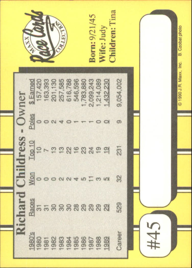 1990-Maxx-Auto-Racing-Cards-1-200-Rookies-A2695-You-Pick-10-FREE-SHIP thumbnail 91