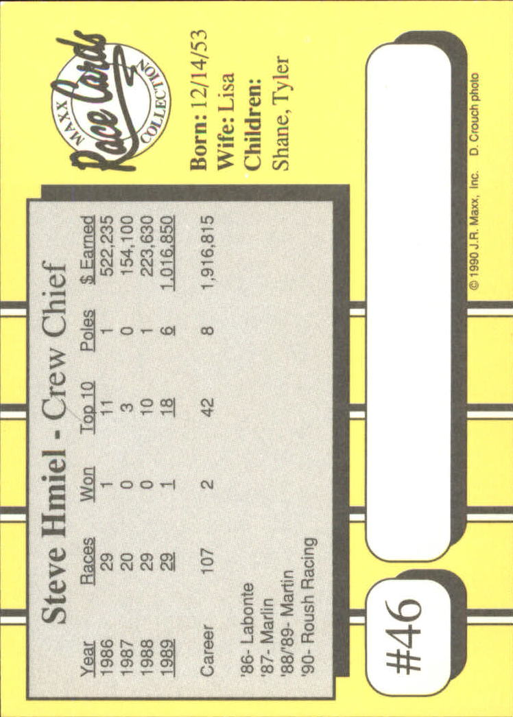 1990-Maxx-Auto-Racing-Cards-1-200-Rookies-A2695-You-Pick-10-FREE-SHIP thumbnail 93