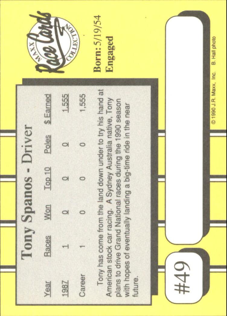 1990-Maxx-Auto-Racing-Cards-1-200-Rookies-A2695-You-Pick-10-FREE-SHIP thumbnail 99