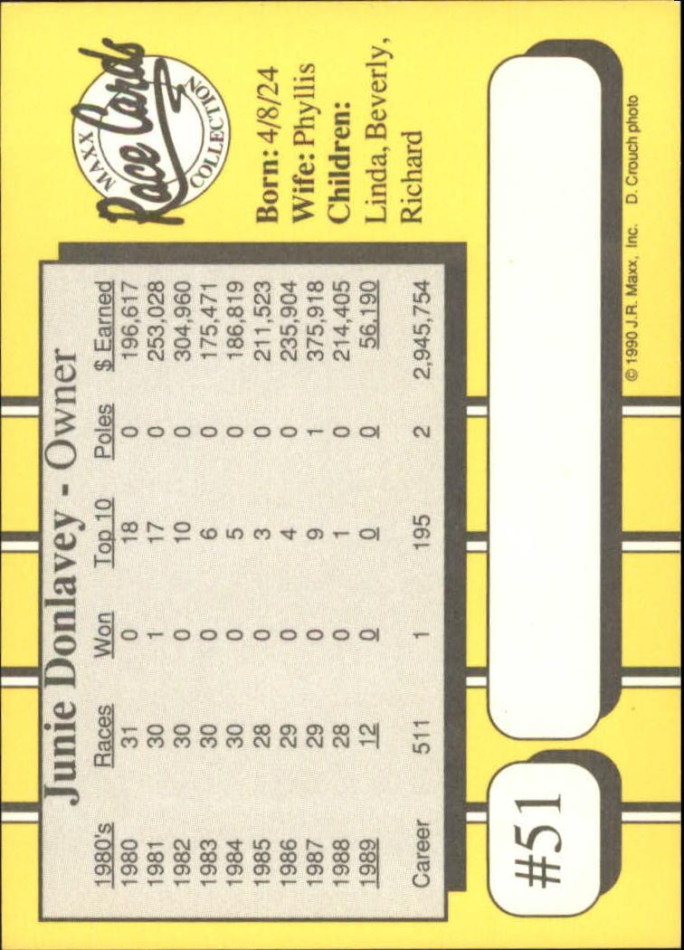 1990-Maxx-Auto-Racing-Cards-1-200-Rookies-A2695-You-Pick-10-FREE-SHIP thumbnail 103