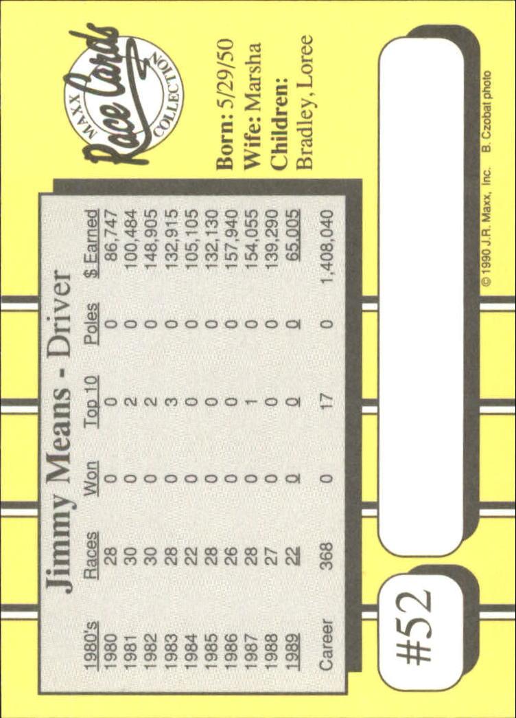 1990-Maxx-Auto-Racing-Cards-1-200-Rookies-A2695-You-Pick-10-FREE-SHIP thumbnail 105
