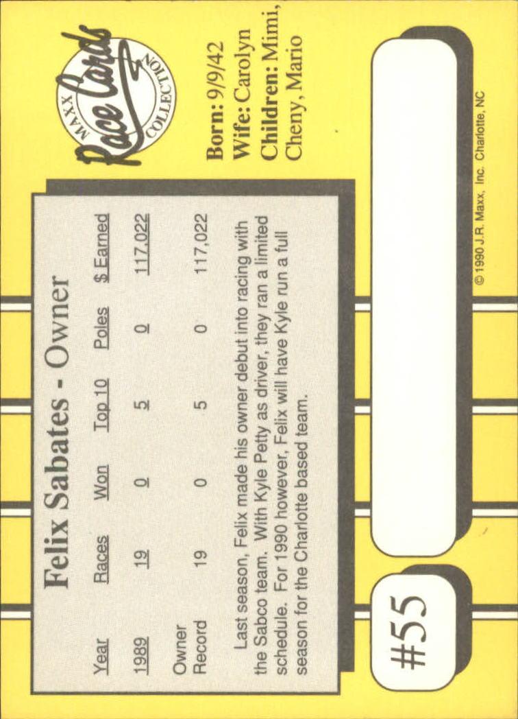 1990-Maxx-Auto-Racing-Cards-1-200-Rookies-A2695-You-Pick-10-FREE-SHIP thumbnail 111