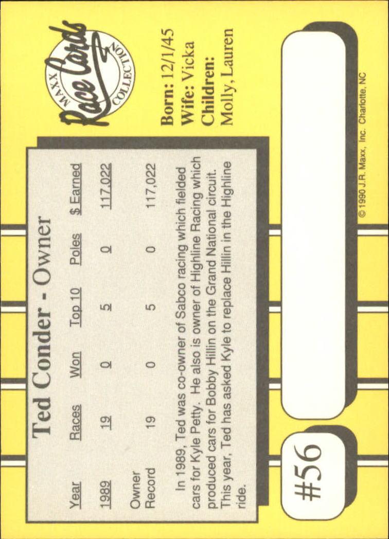 1990-Maxx-Auto-Racing-Cards-1-200-Rookies-A2695-You-Pick-10-FREE-SHIP thumbnail 113
