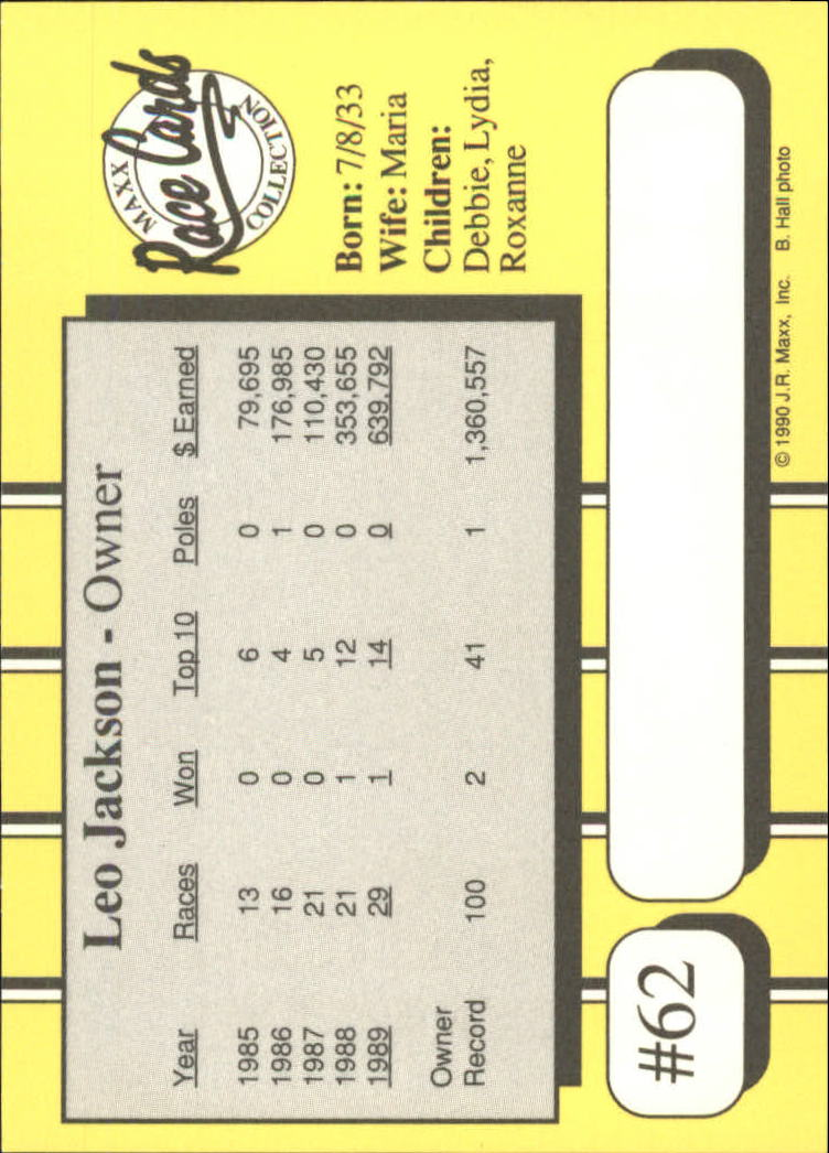 1990-Maxx-Auto-Racing-Cards-1-200-Rookies-A2695-You-Pick-10-FREE-SHIP thumbnail 125