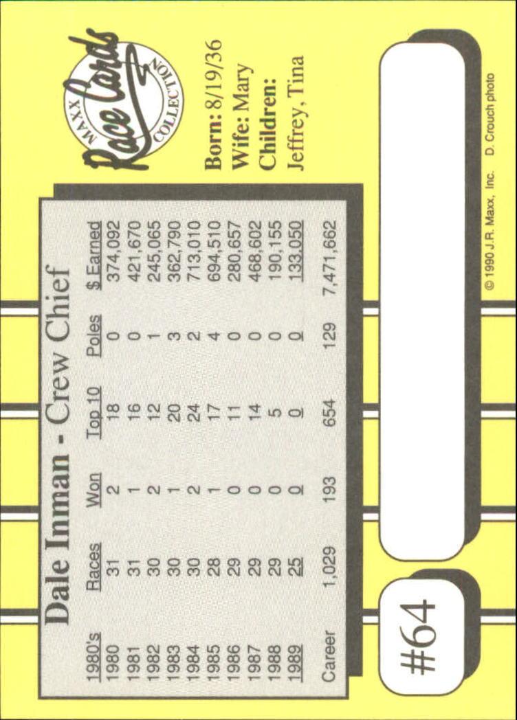 1990-Maxx-Auto-Racing-Cards-1-200-Rookies-A2695-You-Pick-10-FREE-SHIP thumbnail 129