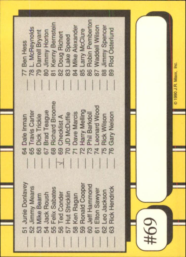 1990-Maxx-Auto-Racing-Cards-1-200-Rookies-A2695-You-Pick-10-FREE-SHIP thumbnail 139