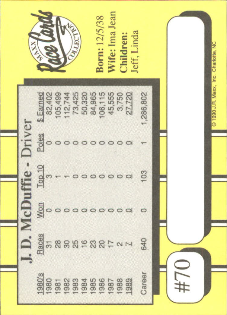 1990-Maxx-Auto-Racing-Cards-1-200-Rookies-A2695-You-Pick-10-FREE-SHIP thumbnail 141