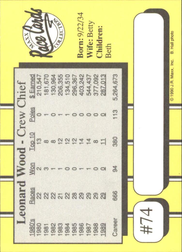 1990-Maxx-Auto-Racing-Cards-1-200-Rookies-A2695-You-Pick-10-FREE-SHIP thumbnail 149