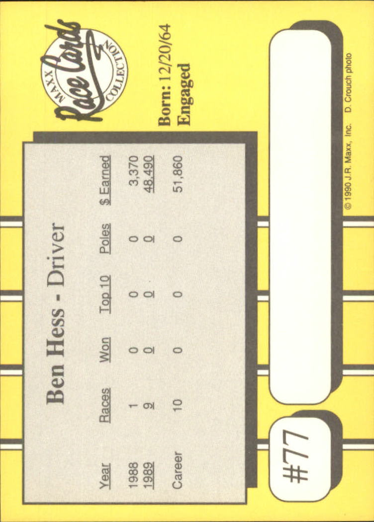 1990-Maxx-Auto-Racing-Cards-1-200-Rookies-A2695-You-Pick-10-FREE-SHIP thumbnail 155