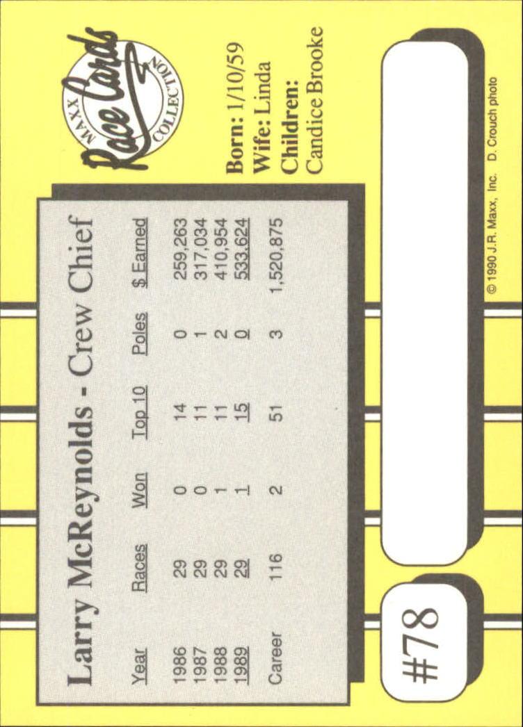 1990-Maxx-Auto-Racing-Cards-1-200-Rookies-A2695-You-Pick-10-FREE-SHIP thumbnail 157